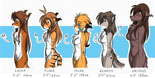 2kinds Bust Size Chart