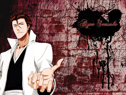 animê bleach wallpaper entitled Aizen