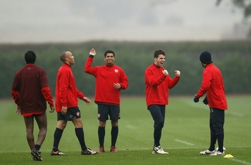 Arsenal Training session - cesc-fabregas Photo