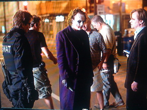 Behind the scenes with the Joker