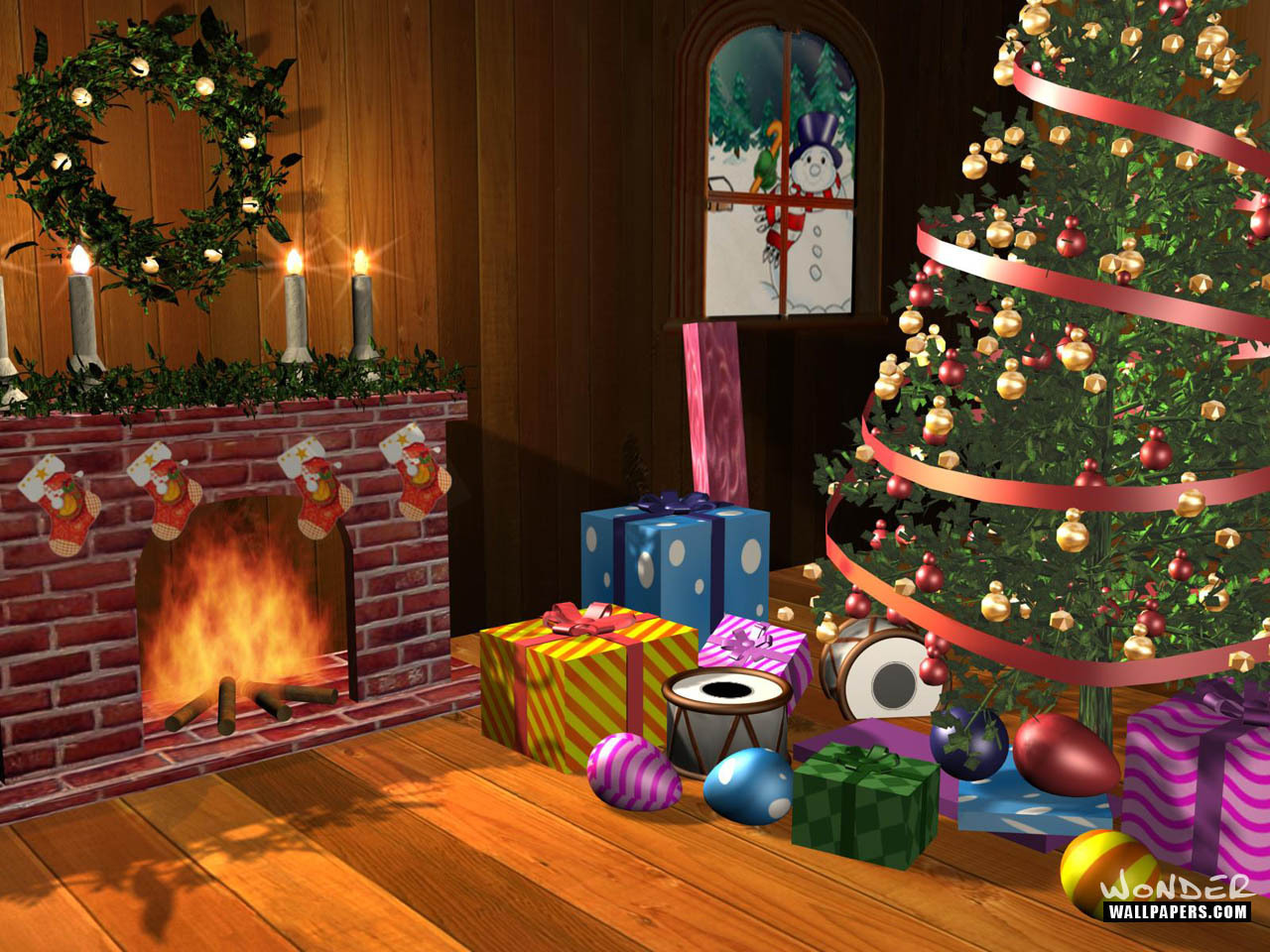 Christmas Scenes Wallpaper hd image