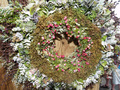 বড়দিন Wreath w'paper (Christmas 2008)