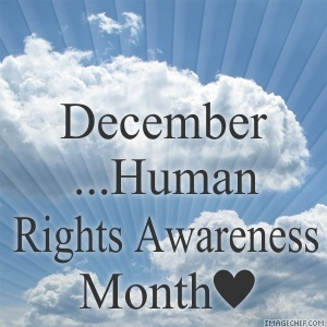 December/Human Rights Awareness maand iconen