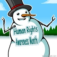 December/Human Rights Awareness mes iconos