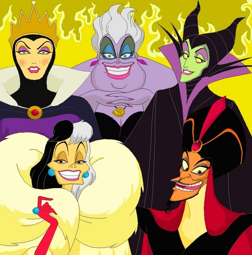les méchants de Disney fond d'écran titled Disney Villains