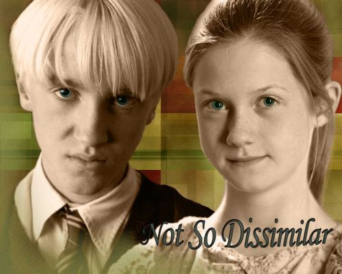 Draco and Ginny wallpaper probably containing a business suit and a portrait called Draco and Ginny