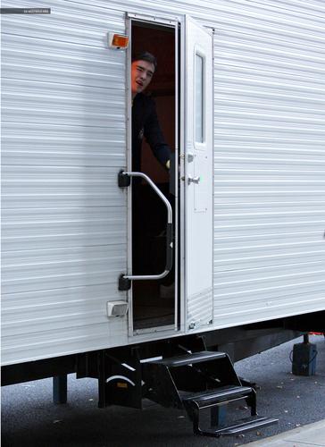 Ed on set