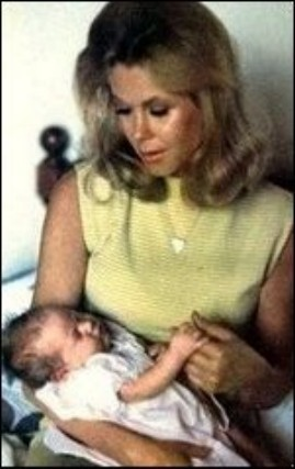 Elizabeth With Baby Daughter, Rebecca In 1969