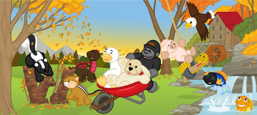Fall time on Webkinz
