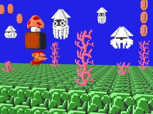 নিন্টেডো দেওয়ালপত্র titled 8-Bit Scene