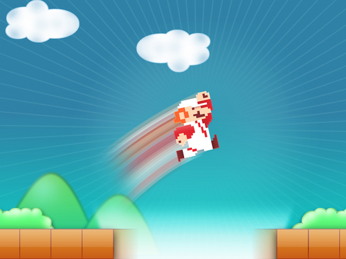 Nintendo wallpaper entitled Fire Mario