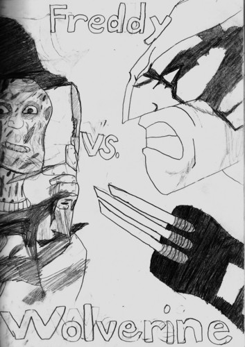 Freddy Krueger wallpaper titled Freddy vs. Wolverine