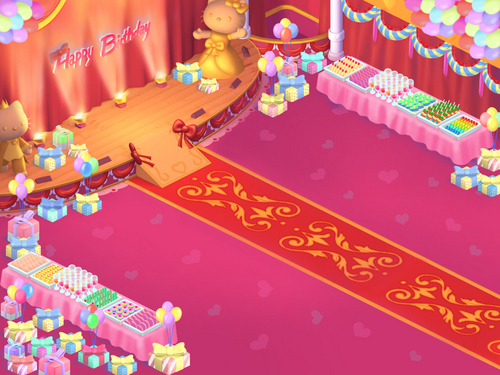 Hello Kitty's Birthday Party Room