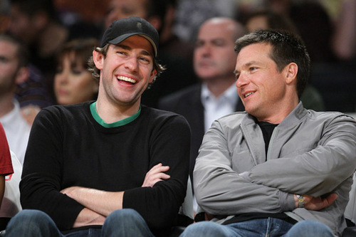Jason and John at Lakers Game Nov. 23 - jason-bateman Photo