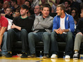 Jason, John Krasinski, and David Beckham at Lakers Game - arrested-development photo