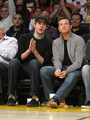 Jason and John Krasinski at Lakers Game - arrested-development photo