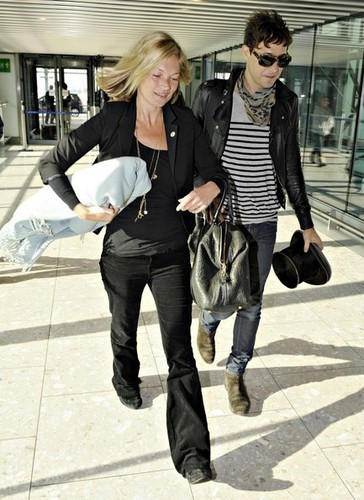 Kate and Jamie at Heathrow