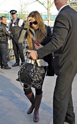 Lindsay at Heathrow