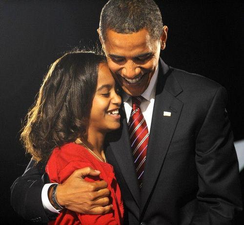 Malia and Barack