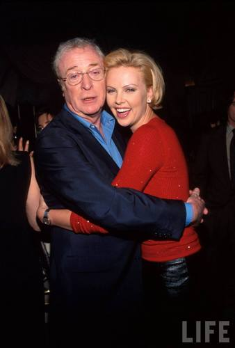 Michael Caine and Charlize Theron