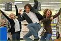 Miley, Justin Gaston and sister @ Walmart