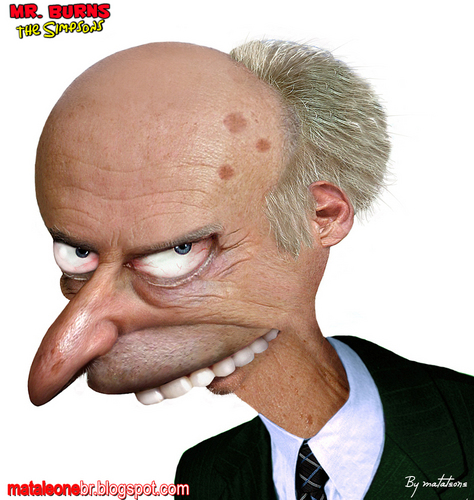 Mr Burns in Real Life - the-simpsons Fan Art
