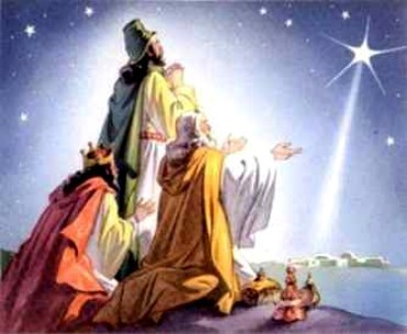 Krismas kertas dinding entitled The Three Wise Men (Christmas 2008)