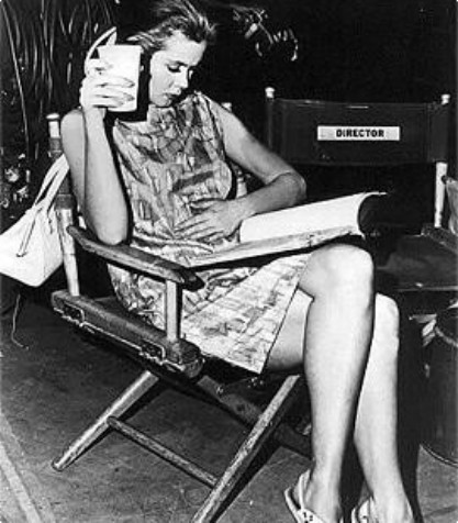 Elizabeth Montgomery wallpaper with a park bench called On The Set ...