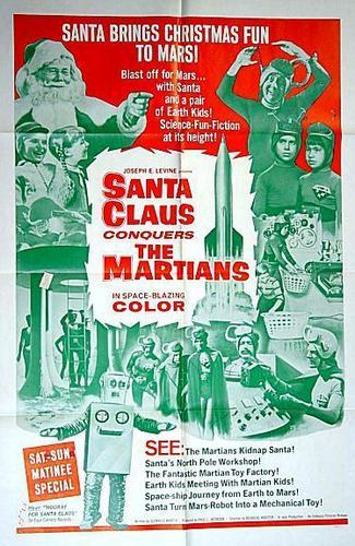 Original Poster For The 1964 Christmas Movie, Santa Claus Conquers The Martians