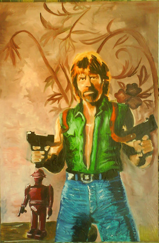 Chuck Norris Hintergrund entitled Painting of Chuck
