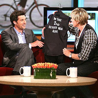 Patrick's gift from Ellen DeGeneres