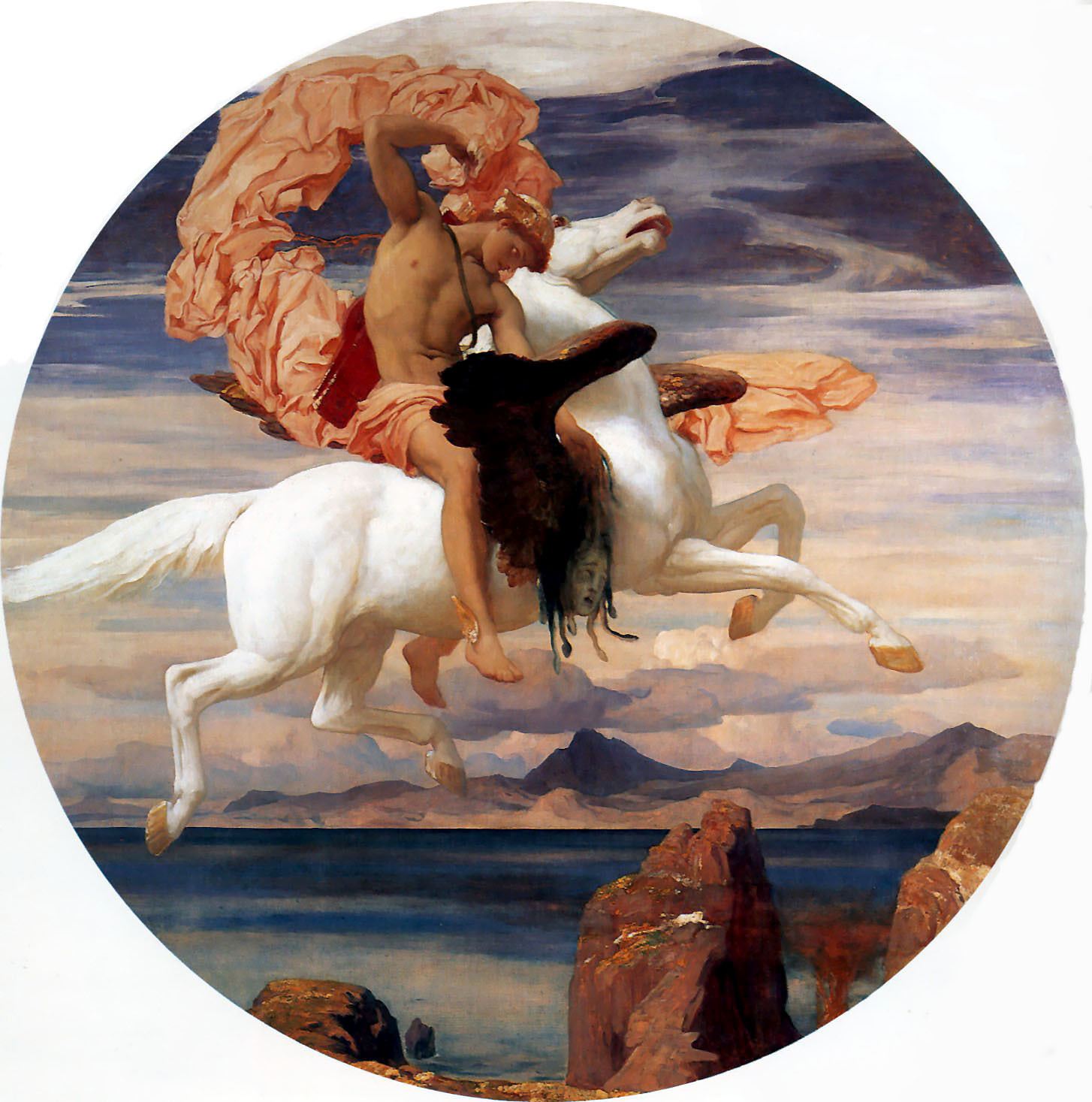 Perseus riding Pegasus