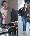 Rob and Kris at LAX Airport - twilight-series photo