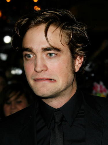 Twilight Series wallpaper titled Rob at the TWILIGHT premiere (funny)