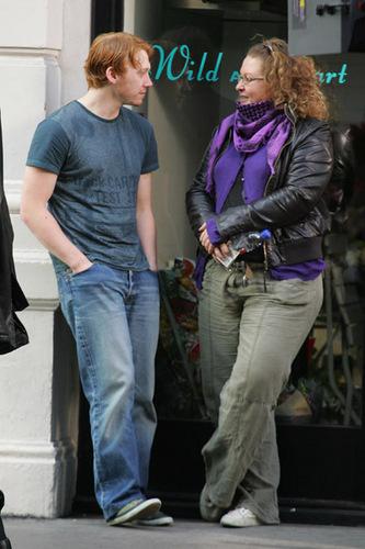 "Rupert Grint in the set of ""Wild Target"""