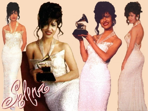 Selena Quintanilla-Pérez wallpaper containing a bridesmaid, a gown, and a dinner dress called SELENA