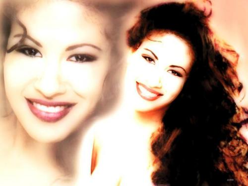 Selena Quintanilla-Pérez वॉलपेपर containing a portrait titled SELENA