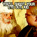 Santa and Ralphie - a-christmas-story icon