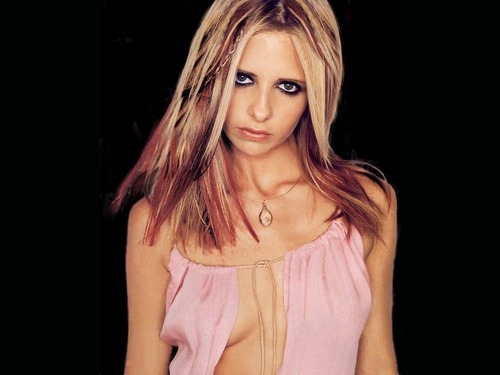 Sarah Michelle Gellar wallpaper containing a cocktail dress and a portrait titled Sarah Michelle Gellar