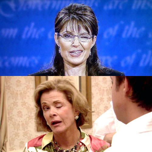 Sarah Palin / Lucille Bluth