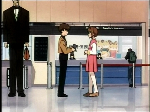 Syaoran and Sakura at the airport