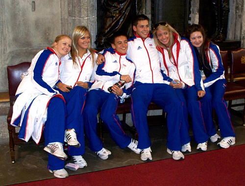 Tom Daley with pals