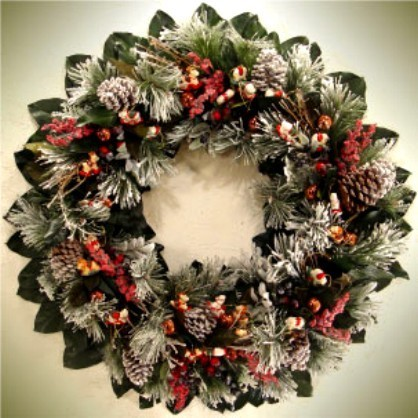 Holiday+/+Christmas+Wreath++Natual+Winter+Wreath+by+