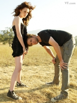 These are two of the outtakes from Kristen Stewart's Vanity Fair shoot.