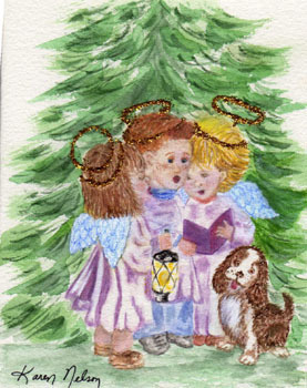Vintage krisimasi Carolers (Christmas 2008)