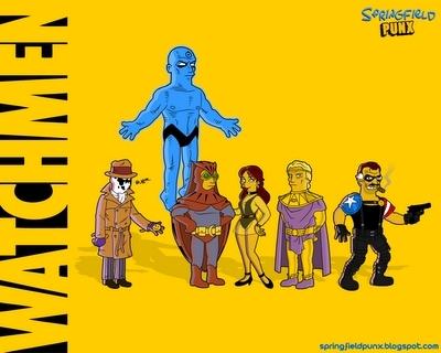 Watchmen Simpsons Style