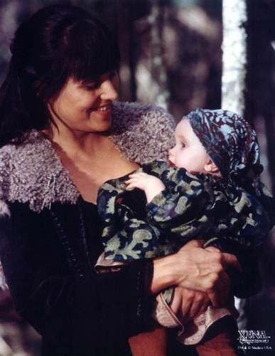 Xena with baby Eve