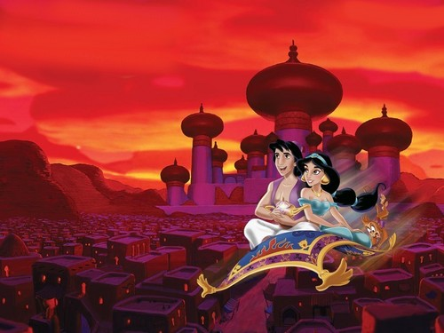 Disney wallpaper entitled aladdin and jasmine