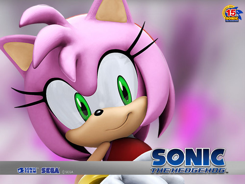 SONIC GIRLS karatasi la kupamba ukuta entitled amy the hedgehog