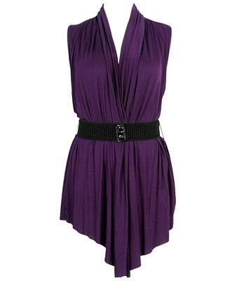 belted sleeveless open cardigan